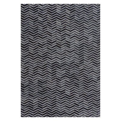 Natural Hide Black/Gray Area Rug Rug Size: Rectangle 136 x 176