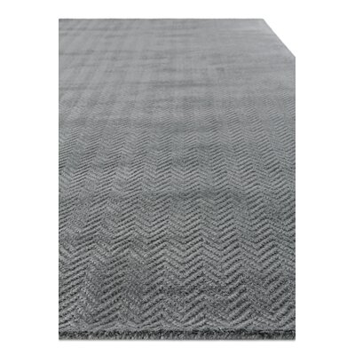 Pavo Hand-Woven Gray Area Rug Rug Size: Rectangle 9 x 12