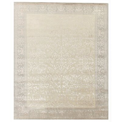 Metro Velvet Hand Woven Wool/Silk Beige Area Rug Rug Size: Rectangle 14 x 18