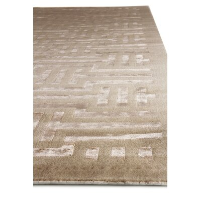 Super Tibetan Hand Knotted Wool/Silk Beige Area Rug Rug Size: Rectangle 10 x 14