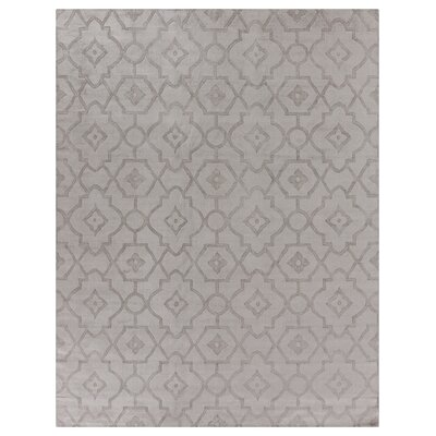 Samara Hand-Woven Silk Gray Area Rug Rug Size: Rectangle 6 x 9