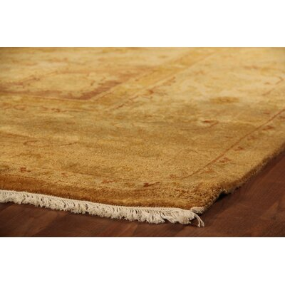 Anatolian Oushak Hand-Knotted Wool Gold Area Rug Rug Size: Rectangle 9 x 10
