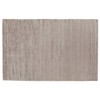 Sanctuary Hand-Woven Silk Taupe Area Rug Rug Size: Rectangle 9 x 12