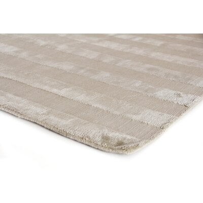 Tunnel Hand-Knotted Silk Silver/Beige Area Rug Rug Size: Rectangle 6 x 9