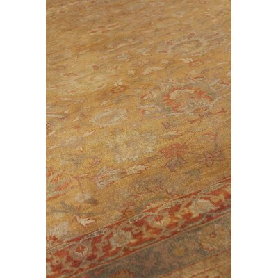 Traditional Hand-Knotted Wool Yellow/Orange Area Rug Rug Size: Runner 26 x 10
