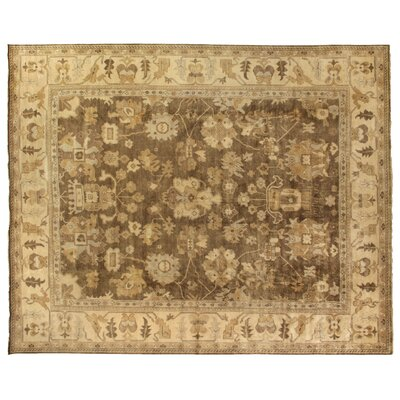 Oushak Hand-Knotted Wool Brown/Beige Area Rug Rug Size: Rectangle 12 x 15