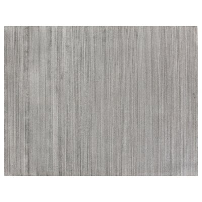 Sanctuary Hand Woven Silk Gray Area Rug Rug Size: Rectangle 6 x 9