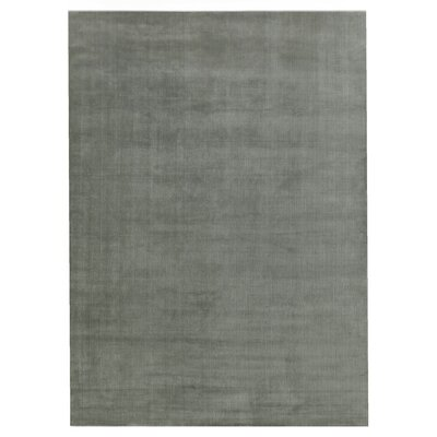 Smart Gem Hand-Woven Wool Gray Area Rug Rug Size: Rectangle 5 x 8