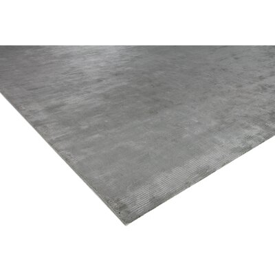Dove Courduroy Hand-Woven Silk Gray Area Rug Rug Size: Rectangle 14 x 18