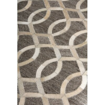 Berlin, Leather/Art Silk, Beige/Ivory/Multi (96x136) Area Rug Rug Size: Rectangle 5 x 8