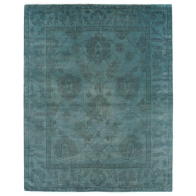 Overdyed Hand-Woven Wool Blue Area Rug Rug Size: Rectangle 9 x 12