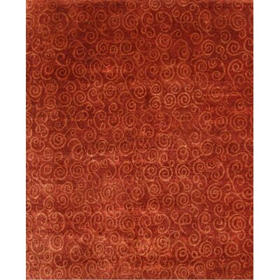 Metropolitan Hand-Knotted Wool Rosy/Rust Area Rug Rug Size: Rectangle 9 x 12