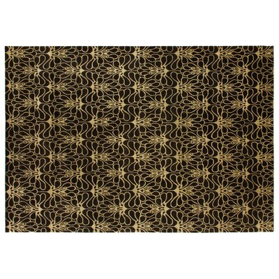Metropolitan Hand Knotted Wool Brown/Ivory Area Rug Rug Size: Rectangle 4 x 6
