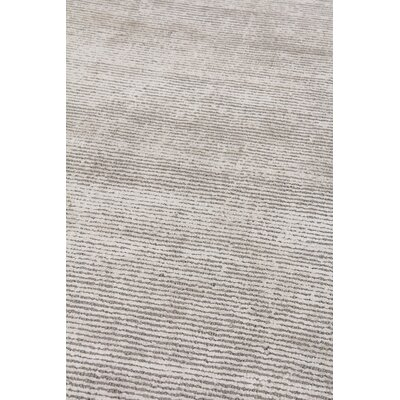 Duo Hand Woven Wool/Silk Gray Area Rug Rug Size: Rectangle 10 x 14