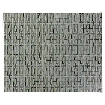 Natural Hide Hand Woven Cowhide Beige/Black Area Rug Rug Size: Rectangle 96 x 136