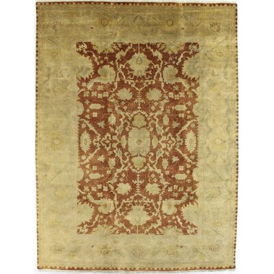 Anatolian Oushak Hand-Knotted Wool Red/Gold Area Rug Rug Size: Rectangle 10 x 14