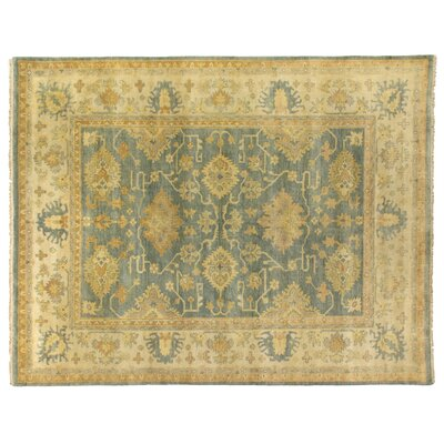 Oushak Hand Woven Wool Yellow/Gray Area Rug Rug Size: Rectangle 6 x 9