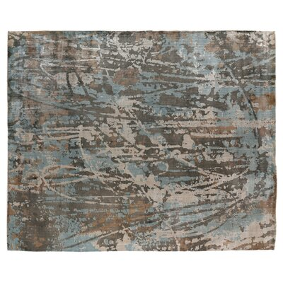 Koda Hand-Woven Blue/Brown Area Rug Rug Size: Rectangle 9 x 12
