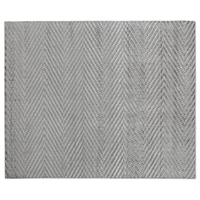 Kingsley Hand-Woven Gray Area Rug Rug Size: Rectangle 14 x 18