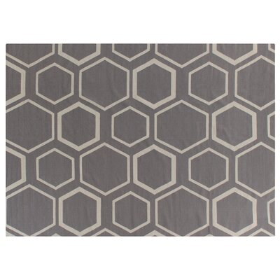 Hand-Woven Wool Brown/Beige Area Rug
