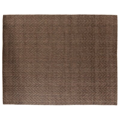 Demani Hand-Woven Wool Brown Area Rug Rug Size: Rectangle 9 x 12