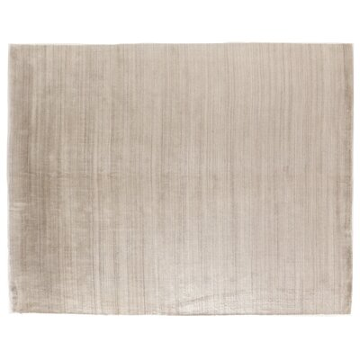 Sanctuary Hand Woven Silk Light Beige Area Rug Rug Size: Rectangle 14 x 18