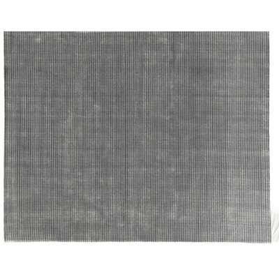Vive Hand-Knotted Wool/Silk Blue/Silver Area Rug Rug Size: Rectangle 9 x 12