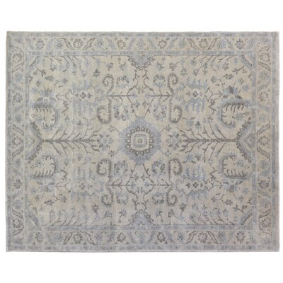 Ziegler Hand-Knotted Wool Gray/Blue Area Rug