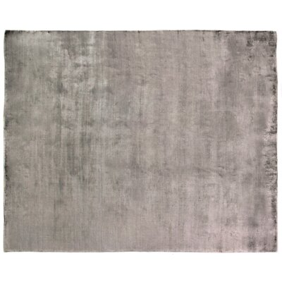 Purity Hand-Woven Gray Area Rug Rug Size: Rectangle 8 x 10