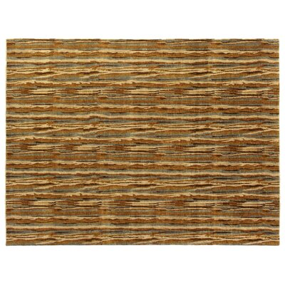 Metropolitan Hand-Knotted Wool Brown/Yellow Area Rug