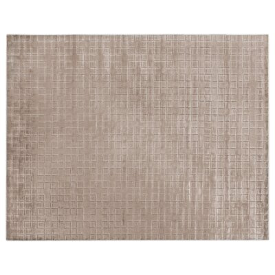 Kingsley Hand-Woven Silk Light Beige Area Rug Rug Size: Rectangle 9 x 12