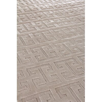 Kingsley Hand-Woven Silk Light Silver Area Rug Rug Size: Rectangle 6 x 9