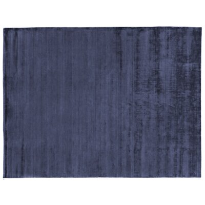 Purity Hand-Woven Silk Dark Blue Area Rug Rug Size: Rectangle 14 x 18