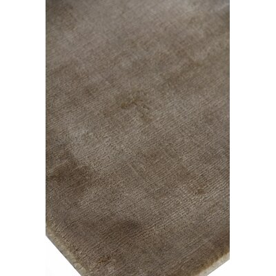 Plain Dove Hand-Knotted Silk Gray Area Rug Rug Size: Rectangle 12 x 15