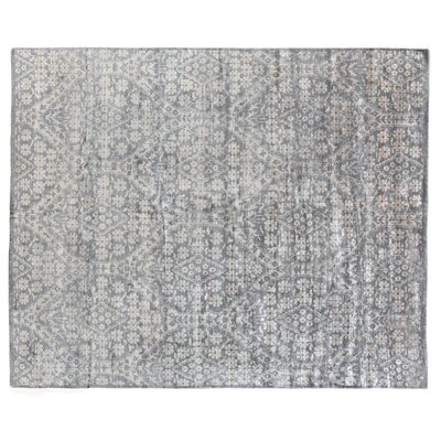 Antique Weave Bamboo Hand-Knotted Gray/Beige Area Rug Rug Size: Rectangle�8 x 10