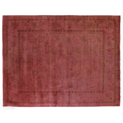 Overdyed Hand-Knotted Wool Red Area Rug Rug Size: Rectangle 12 x 15