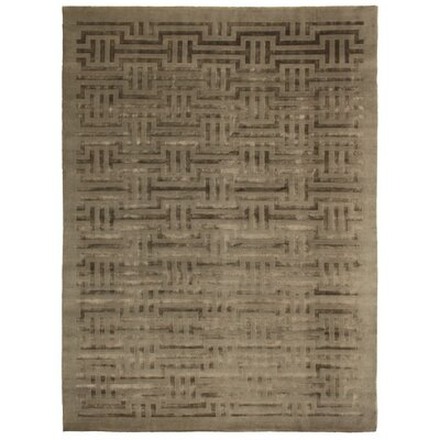 Super Tibetan Hand Knotted Wool/Silk Sage Area Rug Rug Size: Rectangle 8 x 10