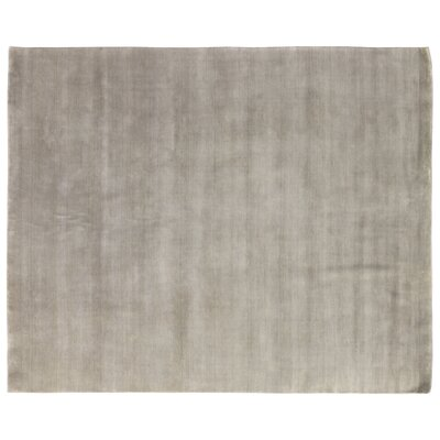 Dove Hand-Woven Wool Gray Area Rug Rug Size: Rectangle 9 x 12