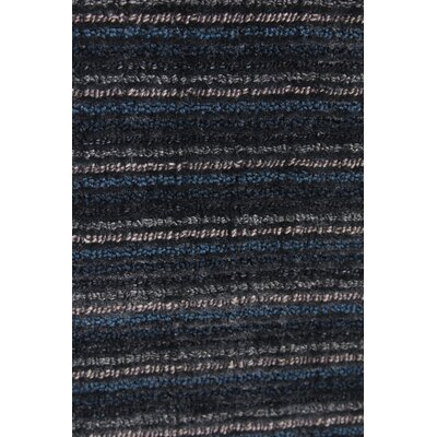 Vive Hand-Knotted Wool/Silk Blue/Gray Area Rug Rug Size: Rectangle 9 x 12