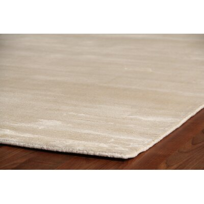 Plain Dove Hand-Woven Silk Off-White Area Rug Rug Size: Rectangle 3 x 5