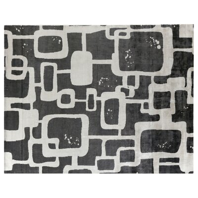 Koda Hand-Woven Silk Black Area Rug Rug Size: Rectangle 10 x 14