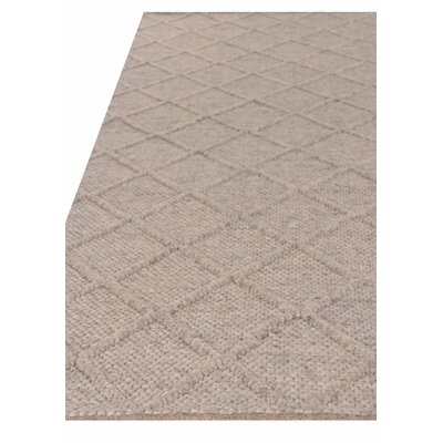 Brentwood Hand Woven Wool Gray Area Rug Rug Size: Rectangle 12 x 15