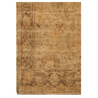 Oushak Hand-Knotted Wool Brown/Gray Area Rug Rug Size: Rectangle 15 x 20