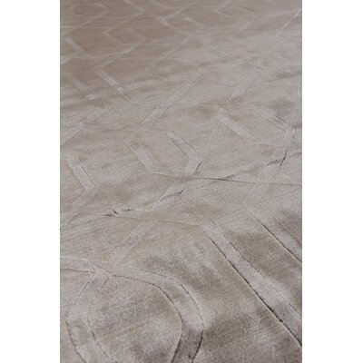 Smooch Carved Hand-Woven Silk Brown Area Rug Rug Size: Rectangle 9 x 12