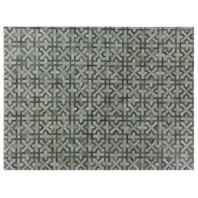 Natural Hide Hand Woven Cowhide Gray Area Rug Rug Size: Rectangle 8 x 11