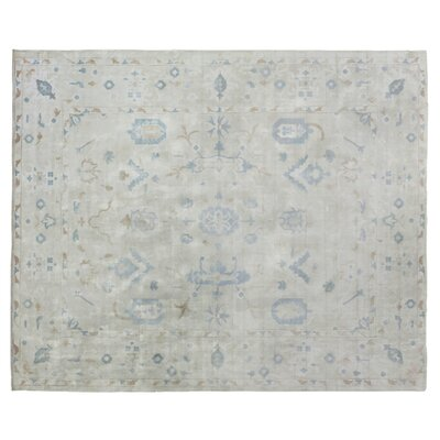Koda Hand-Woven Ivory/Blue Area Rug Rug Size: Rectangle 9 x 12