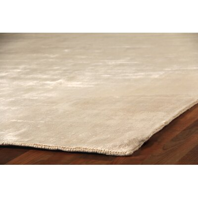 Purity Hand-Woven Ivory Area Rug Rug Size: Rectangle 6 x 9