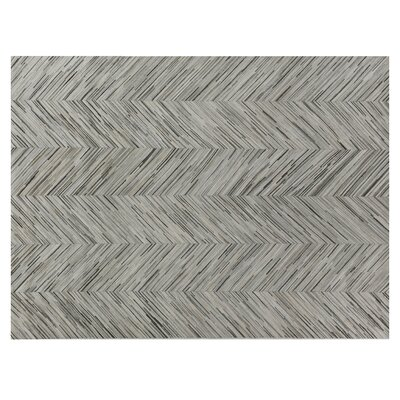 Natural Hide Gray Area Rug Rug Size: Rectangle 116 x 146