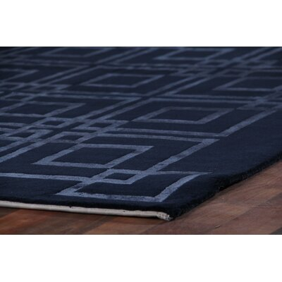 Super Tibetan Hand-Knotted Blue Area Rug