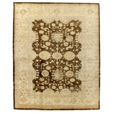 Oushak Hand Woven Wool Beige/Brown Area Rug Rug Size: Rectangle 14 x 18